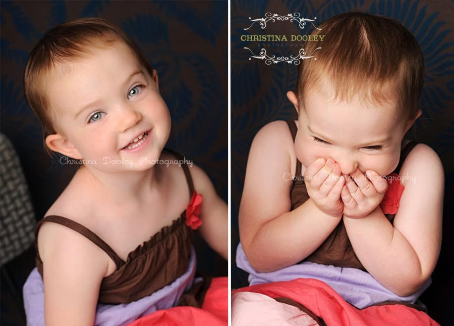 All giggles and smiles from this child for her photo session.