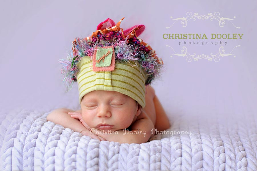 4 week old newborn photography session