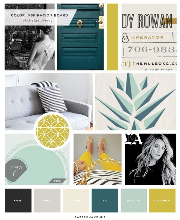 Color Inspiration for logo design for Christina Dooley Photography by Saffron Avenue