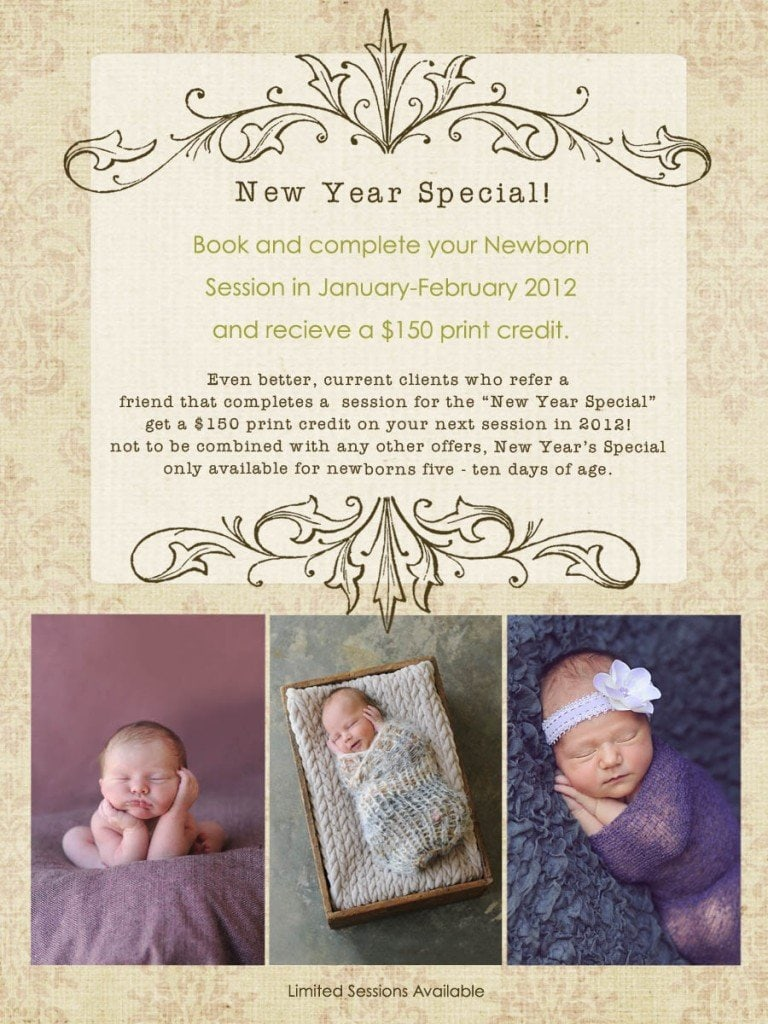 2012 Newborn Photo Session Special