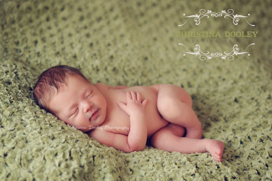 Smily Sleepy Baby Portrait Photography
