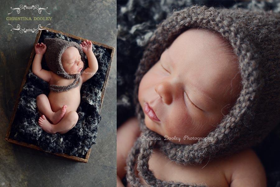 Denver Newborn Photographer, sleeping baby with knit hat