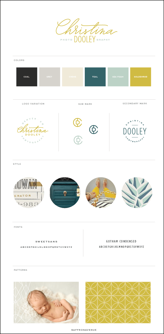 Christina Dooley Photography's Mid Century Logo Design